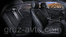 Накидки на сидения CarFashion Мoдель: CALIFORNIA PLUS черный, черный, черный (22414)