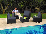 Набір садових меблів Modus Set Graphite ( графіт ) з штучного ротанга ( Allibert by Keter ), фото 2