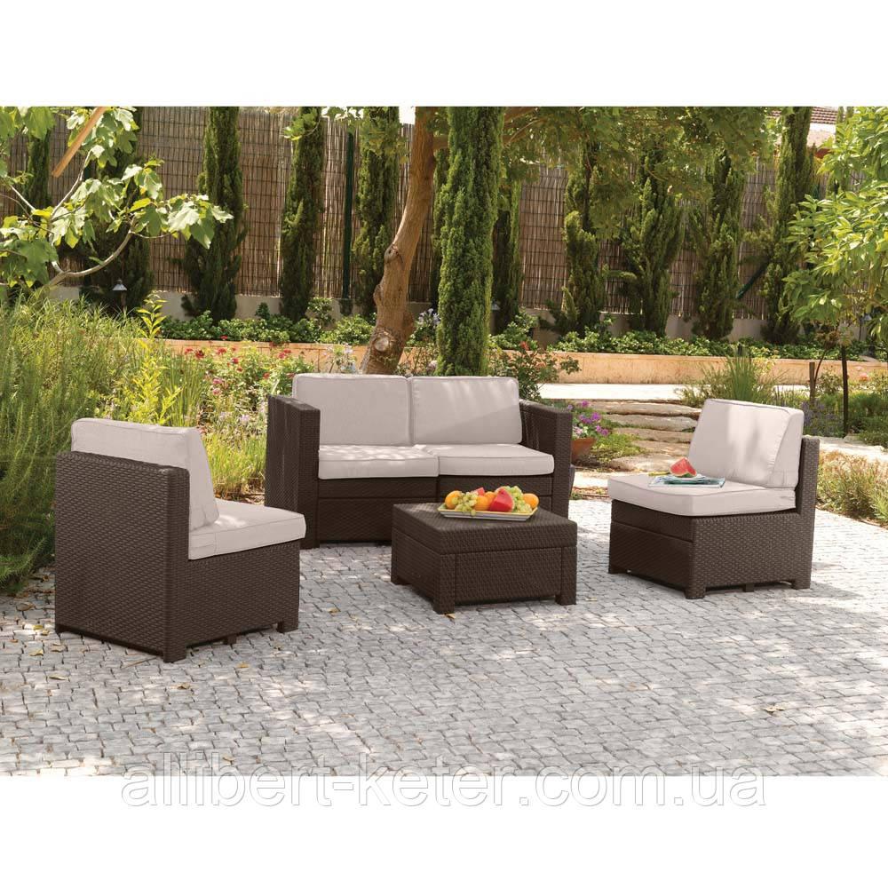 Набор садовой мебели Modus Set Brown ( коричневый ) из искусственного ротанга