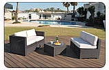 Набор садовой мебели Modus Set Brown ( коричневый ) из искусственного ротанга ( Allibert by Keter ), фото 2