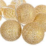 "Гирлянда ""Золотые шарики-фонарики"" 10 шт. (001NL-10G), фото 3"