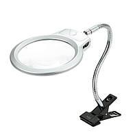 Линза с подсветкой на прищепке 2.5 Х 107 мм. 5 Х 24 мм. LED.
