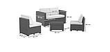 Набір садових меблів Modus Set Cappuccino ( капучіно ) з штучного ротанга ( Allibert by Keter ), фото 10