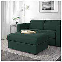 IKEA VIMLE Подставка для ног с ящиком для хранения, темно-зеленый (292.054.40)
