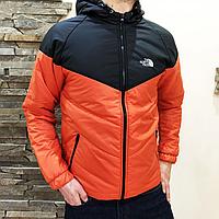 Куртка мужская The North Face оранжевая с черным