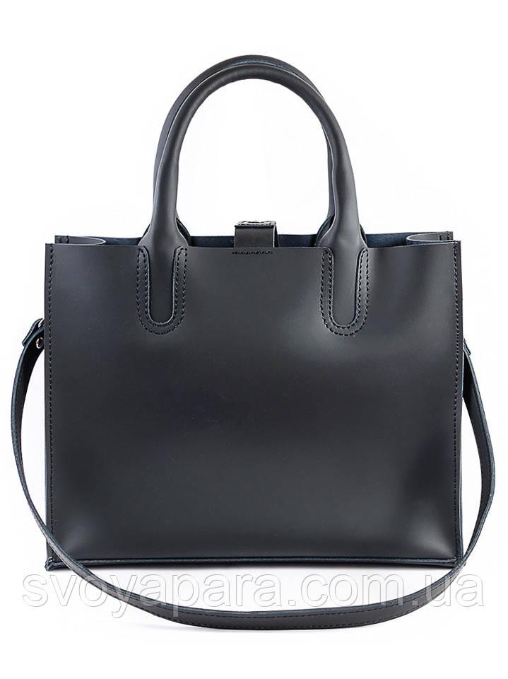Кожаная сумка черная Sollo 6760-11