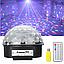 Музичний диско куля Crystal Magic з Bluetooth USB, Mp3,SD Сфера світломузикою 2-я динаміками і Пультом NEW!, фото 8
