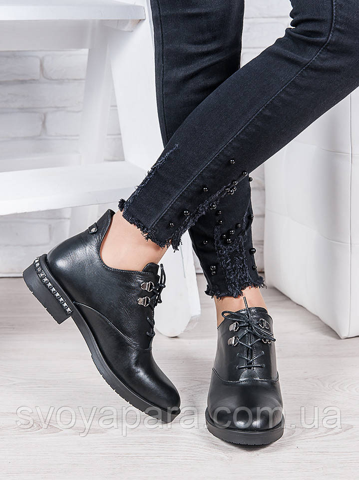 Ботинки кожаные Стефани 6955-28