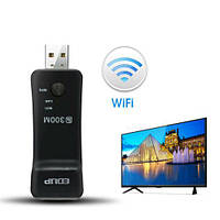 WiFi USB-модуль адаптер для SmartTV телевизоров Samsung, LG, SONY, Philips 300Мб/с (Wi-fi адаптери для ТВ)