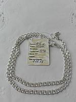 Срібний ланцюжок з плетінням Бісмарк легкий, фото 1