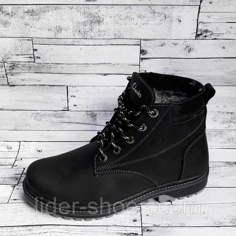 Зимние подростковые ботинки в стиле Clarks