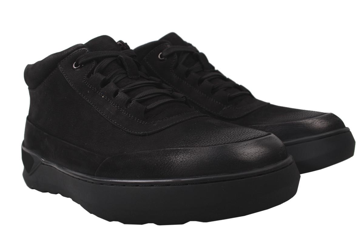 Ботинки мужские зимние Lido Marinozi нубук, цвет черный, размер 39-45
