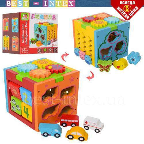 Деревянная игрушка Центр развивающий MD 1311 Куб