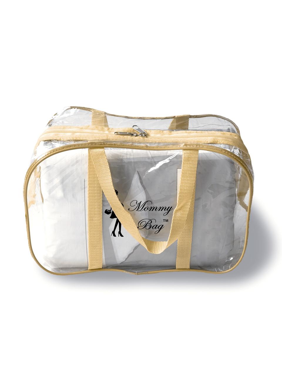 Сумка прозрачная в роддом Mommy Bag - S - 31*21*14 см Бежевая