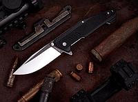 Нож складной, с рукояткой из материала G 10, легкий, практичный, на клинке с обеих сторон имеются шпеньки, фото 1