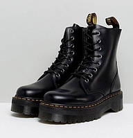 Женские зимние черные ботинки Dr.Martens Jadon НА МЕХУ! 1в1 Как Оригинал Мартинсы