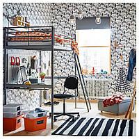 IKEA SVARTA Каркас кровати со столом, серебро (591.512.71)