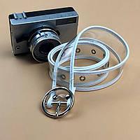 Ремень Пояс City-A Belt 100 см Прозрачный с кожей белый, фото 1