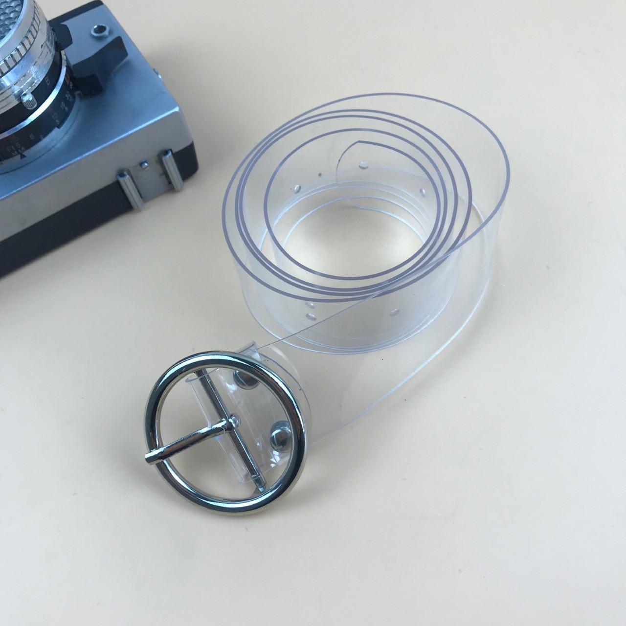 Ремень Пояс City-A Belt 100 см Прозрачный круг
