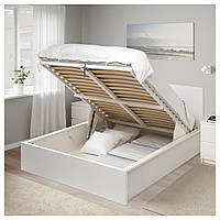 IKEA MALM Кровать с ящиком, белый (004.048.12)