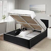 IKEA MALM Кровать с ящиком, черно-коричневая (704.048.04)