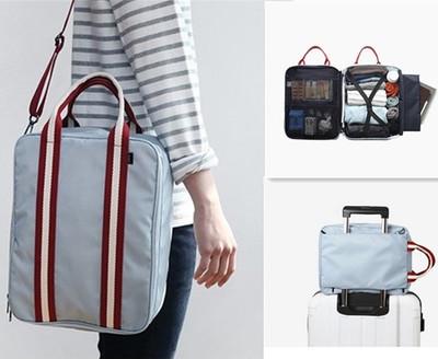 Сумка чемодан для Wizz Air 40*30*20 cм нейлоновая Travel светло серая 02020/02