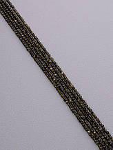 081768 Нитка Обсидиан 40 см. 3 мм. (Без замка)