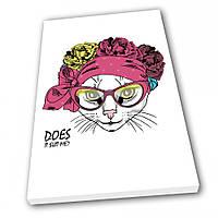 Картина на холсте Kronos Top Fashion Кошка 80 х 120 см (lfp_673621300_80120)