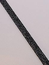 056989 Нитка Оникс 40 см. 2 мм. (Без замка)