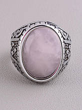 062645-210 Кольцо 'Stainless Steel' Розовый кварц