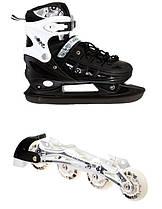 Ролики-коньки Scale Sport Black (2в1) размер 38-41 Гарантия качества Быстрая доставка
