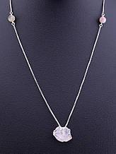 079070 Подвеска 'SUNSTONES' Розовый кварц,Турмалин 50 см.