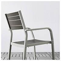 IKEA SJALLAND Садовый стол и 4 стула, стекло, Куддарна (392.915.45)
