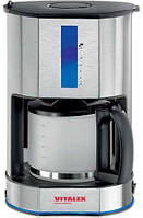 Кофеварка капельная фильтрационная Vitalex VL-6002 Silver (psg_VL-6002)