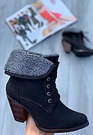 Ботинки женские зимние 6 пар в ящике черного цвета 36-41, фото 1