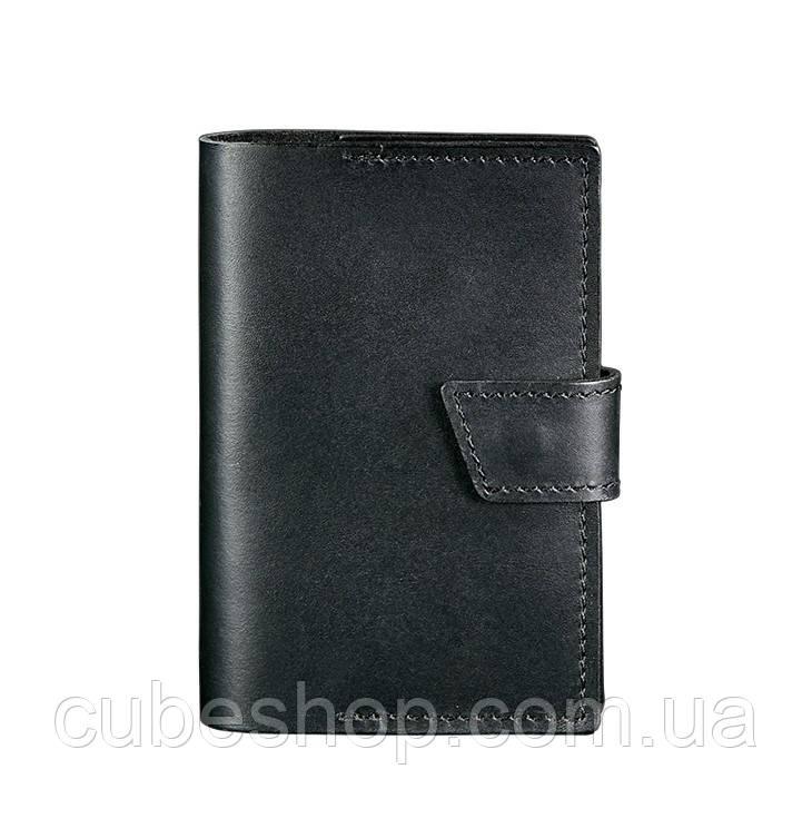 Обложка для паспорта из кожи 4.0 (черная)