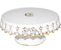 Подставка для торта Золотая Лилия 24.5 см Фарфор (psg_ST-30861)