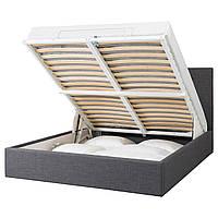 IKEA GVARV Кровать с ящиком для хранения, Шифтебу серый (204.097.24)