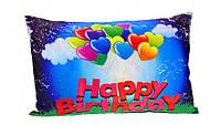 """Наволочка для подушки 30*50 см """"happy birhday""""-шарики, 2й сорт"""