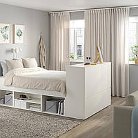 IKEA PLATSA Кровать с 10 ящиками, белый, Фоннс (893.029.14)