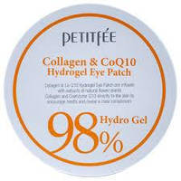 Патчи под глаза гидрогелевые с коллагеном и коэнзимом Petitfee&Koelf Collagen & Co Q10, Корея, 60 шт, фото 1