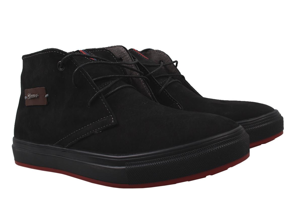 Ботинки мужские зимние Maxus shoes нубук, цвет черный, размер 40-45