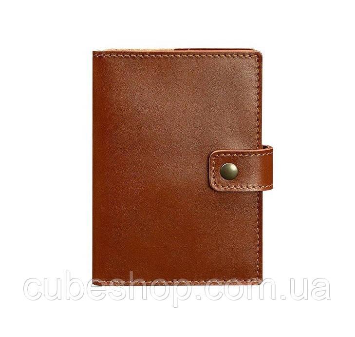 Обложка для паспорта из кожи с окошком 5.0 (светло-коричневая)