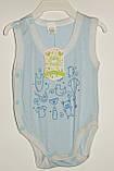 Детский боди-майка,18 р с принтом Маленьке Сонечко розовый,голубой, фото 4