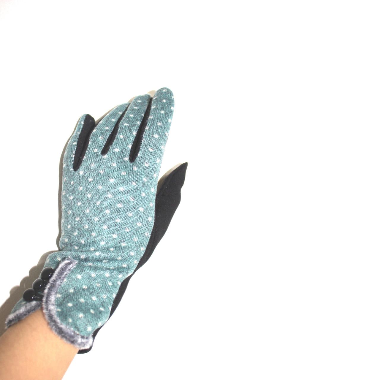 Перчатка женская  Горох 2 (уп.12 штук)Байка