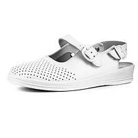 Сандалии Теллус Рая медицинская обувь белые женские для врачей и поваров