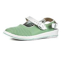 Сандалии Теллус Рая медицинская обувь зелёные женские для врачей и поваров