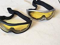 Очки защитные на резинке с прозрачными линзами