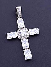 076470 Крестик  'XUPING' Фианит (родий)