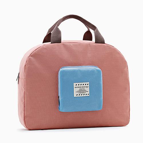Сумка складная с цветным карманом Genner розовая 02031/03